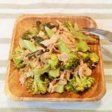 旨味たっぷり♡丸ごとツナ缶とブロッコリーの温サラダ