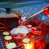炭火でカマンベールチーズフォンデュ