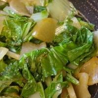 大根と白菜のカレー味ソテー