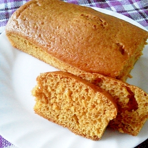 ノンオイル♪HMでカラメル風味の簡単パウンドケーキ
