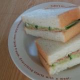 簡単!きゅうりとツナのサンドイッチ