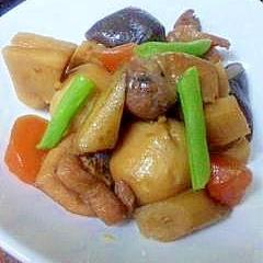 中華風★根菜と鶏肉の煮物★筑前煮