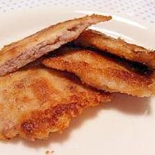 お弁当に♪フライパンで簡単 薄切り豚カツ♥