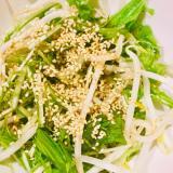 もやしと水菜の胡麻和えサラダ