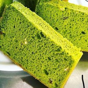 レモンピールと抹茶の米粉シフォンケーキ