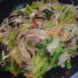 作り置き肉味噌&余り野菜炒めで◆麻婆春雨