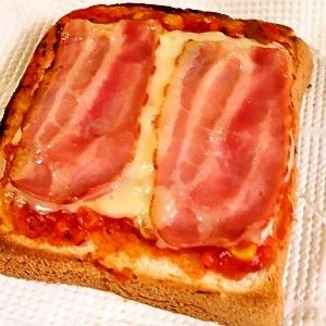 簡単☆手作りトマトソースのピザトースト