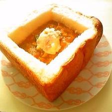 【お子様ランチ風】パンのお皿でカレーセット♪