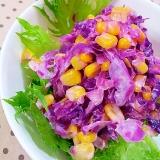 ✿紫キャベツとコーンのコールスローサラダ❤