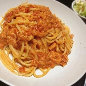 蟹の濃厚☆トマトクリームパスタ