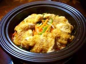 鶏のゴマ味噌タジン