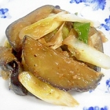 長葱と茄子のココナッツオイル炒め