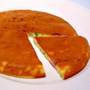 マヨネーズ入り♪ ベーコン&水菜のホットケーキ