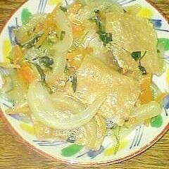 大豆ミートと野菜の生姜炒めです♪
