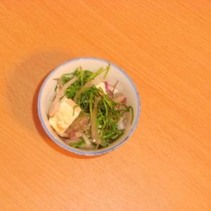 おかひじきと豆腐のごま辛子マヨ和え