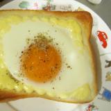 簡単半熟卵のマヨトースト