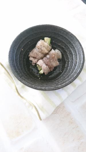 豚バラ肉とズッキーニのレンチンおかず