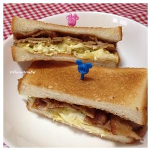 豚バラ肉でジューシー☆焼肉サンドイッチ