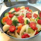 簡単で野菜たっぷり!フライパンでぎゅうぎゅう焼き
