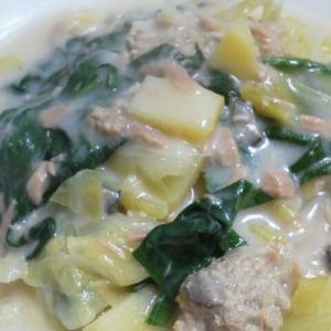 リメイク★豚肉団子からのクリームスープ