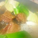 いのしし肉のすき焼き