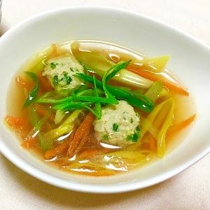 リメイクレシピ♪ニラ肉団子入り簡単スープ♡