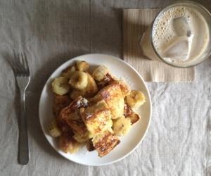 [簡単朝ごはん♪]バナナフレンチトースト