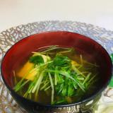 ☆豆腐と水菜のお味噌汁☆