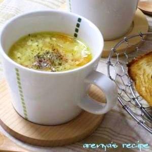野菜の甘みたっぷりカリフラワーの豆乳にんにくスープ