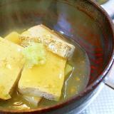 焼き豆腐のあんかけ