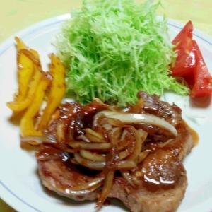 絶品ソースの豚ロースステーキ