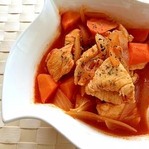 鷄むね肉のトマトジュース煮込み✿