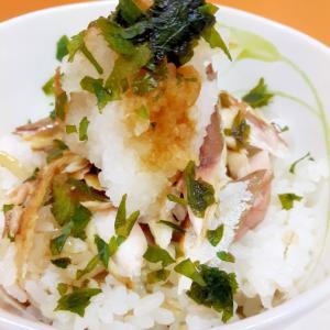 青魚をおいしく!塩サバと大根おろしの丼・大葉添え♪