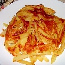 ジャガイモとチーズのカリカリ焼き