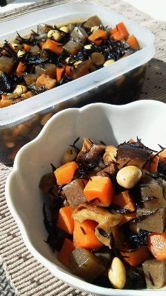 たっぷり作って美味しい常備菜☆五目豆♪