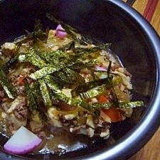 石焼きでアツアツ 白菜マーボー丼