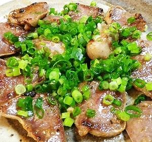豚タンのニンニクごま油焼き