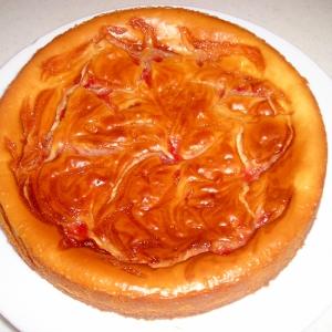 ストロベリーマーブルチーズケーキ
