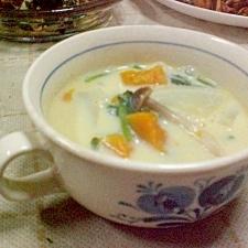 豆乳コンソメスープ