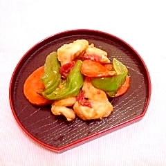 梅風味♪ピーマンと鶏ムネ肉の簡単炒め物