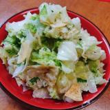白菜とのり塩ポテチのコールスローサラダ