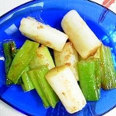 長葱の炒め物