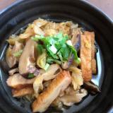 キャベツと椎茸の煮物