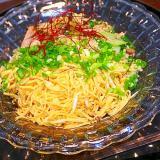 錦糸卵のぶっかけ素麺