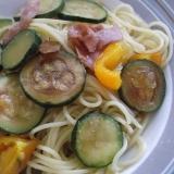ズッキーニの簡単スパゲッティ