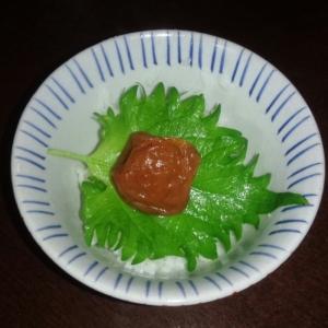 ズボラ飯☆梅しそのっけご飯