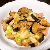 豚肉とナスの青唐辛子味噌炒め