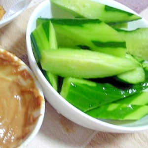 簡単キュウリの味噌ディップ2種
