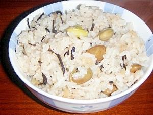 枝豆とひじきのご飯