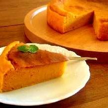 ハロウィンにぴったり♪カボチャのチーズケーキ